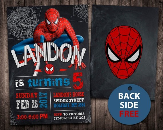 Spiderman invitation spiderman birthday invitation like this item stopboris Choice Image
