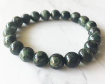Jasper Bracelet, Jasper, Green Jasper, Crystal Bracelet, Gemstone Beaded Bracelet, Jasper Jewelry, Chakra Jewelry, Beaded Bracelets, 8mm