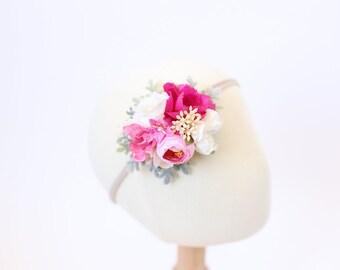 baby flower crown headband, newborn headband, baby floral crown, toddler flower headband, flower headband baby, girls headband, baby props