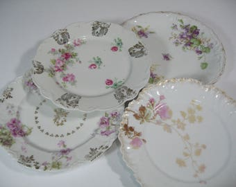 Vintage Luncheon Plates, Dessert Plates, Salad Plates, Vintage Tablesetting, Eclectic Table