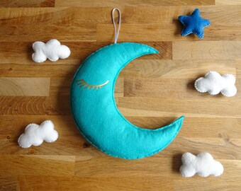 Decorative wall Moon felt / baby room decoration
