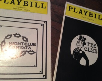 Playbills:  Charles Playhouse, Boston Repertory Theatre 1977