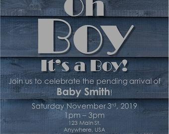 Custom Baby Shower Invitation Printable