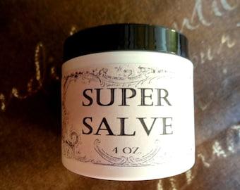 Super Herbal Healing Salve 4 oz., Skin Salve, Wound Healing Salve, Healing Salve, Herbal Healing Salve, Natural Wound Salve, Skin Ointment