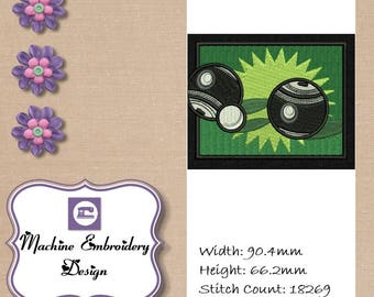 Instant Download Machine Embroidery Design. Create a bespoke gift for any Lawn Bowls / Crown Green Bowls Lover