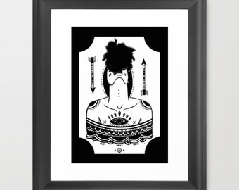 Ectoplasm. Occult giclee print by Ashley Hoey.