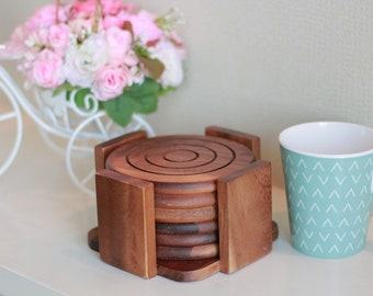 NT098 Round Coaster Set of 6