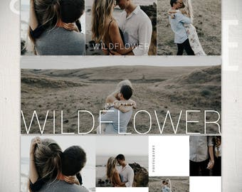 Facebook Timeline Cover Templates: Wildflower - 3 Facebook Covers