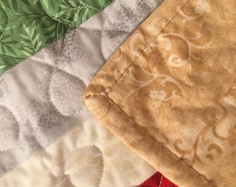 Jelly roll throw quilt