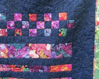 Fall Quilt, Throw, Autumn Quilt, Autumn Leaves, Fall Decor, Housewarming Gift