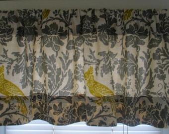 SALE  SALE Window Curtain-Valance Premier Prints Barber  Bird  Summerland
