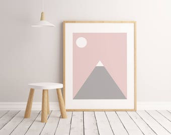 Mountain Print, Kids Room Decor, Kids Room Art, Kids Room Wall Art, Kids Room Poster, Printable Wall Art