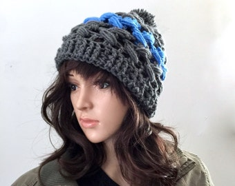 The Next Big Thing-  Winter Beanie with Lateral Braided Texture - Women Girls Teen - Ready to Ship