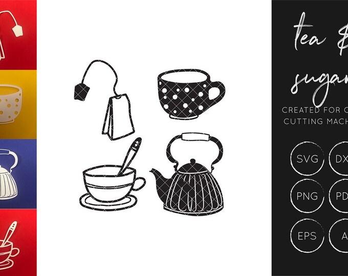 Tea SVG cut file set