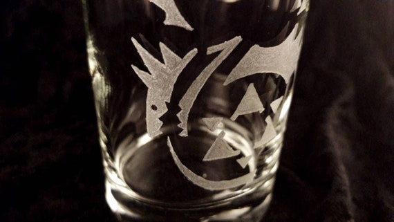 Full Metal Alchemist - Oroboros Glass | Hand Engraved Glass