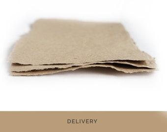 Handmade Recycled Paper • BROWN