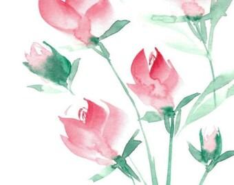 Rose Bunch Watercolor Print