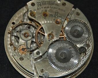 Vintage Antique Waltham Watch Pocket Watch Movement Steampunk SM 66