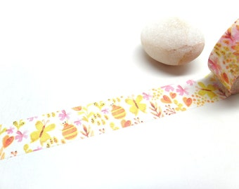 Bee and Flower Washi Tape,  15mm x 10m
