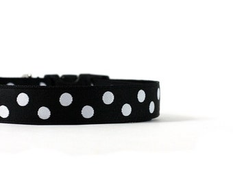 1 Inch Wide Dog Collar with Adjustable Buckle or Martingale in The Classic