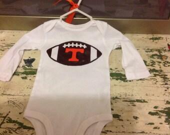 Personalized  football onesie