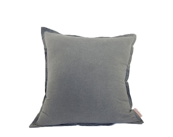 Dark Grey Linen Fabric Cushion Cover  | Free UK Delivery