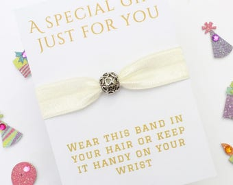 Heart Charm - Gift - Charm Band - Friendship Band - Bride Gift - Flowergirl Gift - Bridesmaid Gift - Wedding Gift - Handmade Gift