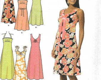 Simplicity 4630 Misses/Miss Petite Dress In two Lengths With Bodice And Trim Variations Sewing Pattern, Size 14-20, UNCUT