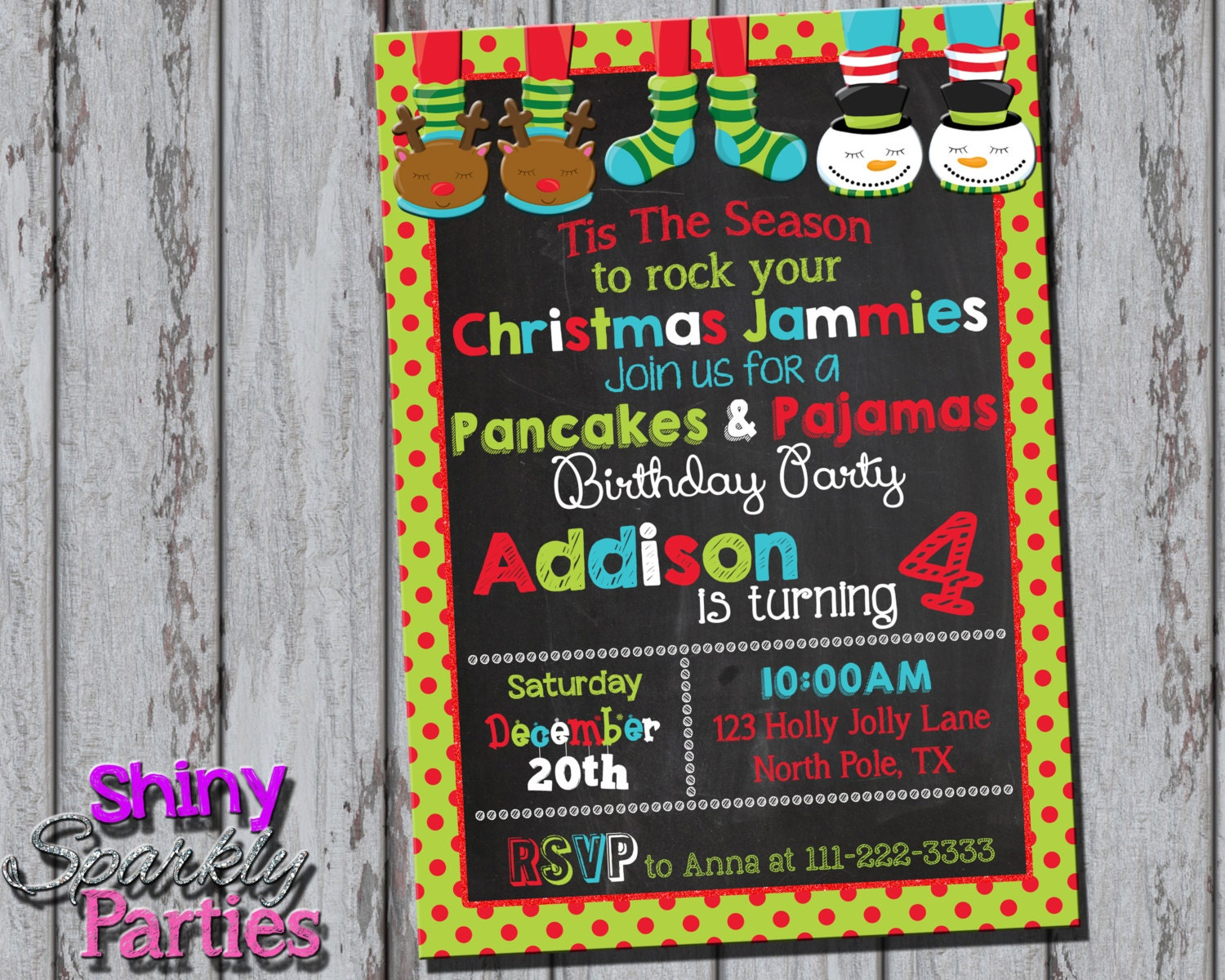 Christmas pancakes and pajamas party invitation pancakes and zoom filmwisefo