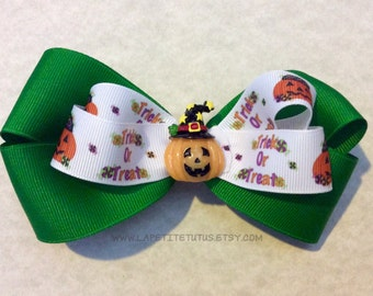 Halloween hairbow, headband, ribbon headband, pumpkin headband, girls headband, toddler headband, baby headband, infant headband, prop