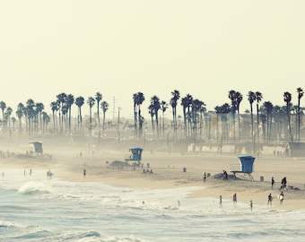 Summer Day at the Beach - 16x24 Photo of Huntington Beach California, Beach House Decor, Wall Art, California Photography