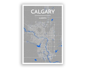 Calgary canada etsy calgary canada city map print modern minimalist art design home office decor gumiabroncs Gallery