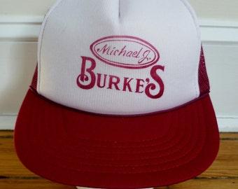 Vintage 1980s Mesh Trucker Hat - Michael J Burkes