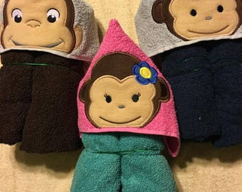 Kids hooded bath towels