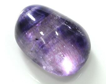 Amethyst Natural Cabochon : 32.00ct Brazilian Natural Purple Wonder Amethyst Gemstone Tumble Beads 22*17*10h