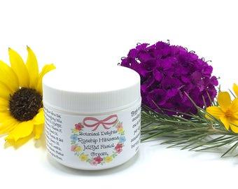 ROSEHIP HIBISCUS MSM Cream, Retinol, Hyaluronic Acid, Vitamin C Cream, Natural Face Cream, Anti Aging Cream, B3 Niaminicide, Dmae, Wrinkle