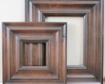 18x24 Picture Frame / Madera Style in Three Stained Finishes / NO CARVE