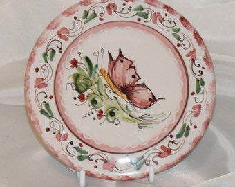 Small vintage Italian hand painted plate