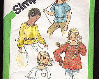 Simplicity 5394, Girl Size 10, Child's and Girls' Pullover Top