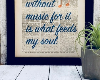 I Couldn't Live Without Music Dictionary Print