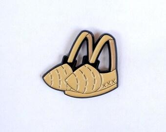 Bullet Bra, Vintage Cone Bra, Burlesque Enamel Pin