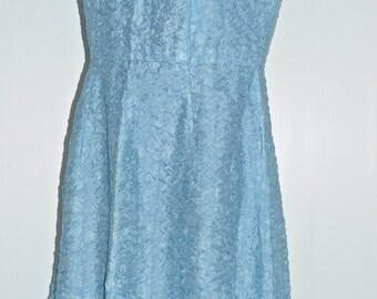 Vintage 60's blue dress Size 38-40 FR