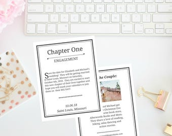 Book Themed Save the Date | Storybook Save the Date | Book Theme | Storybook | Engagement | Save the Date | Wedding | Book Save the Date