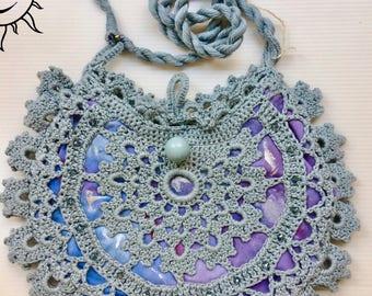 LAURASOLELUNA-Blue Crochet handbag