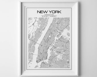 New York map print New York print Personalized map New York city map nyc map manhattan map manhattan map poster NYC poster NYC map New York