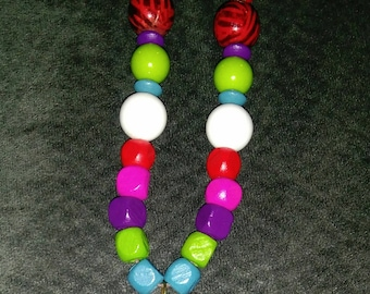 Rainbow hippie necklace