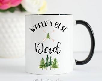 World's Best Dad Mug, Dad Mug, Worlds Best Dad, Father's Day Gift, Gifts For Dad, Daddy Mug, Father Mug, Best Dad Mug, Dad Forest Mug,