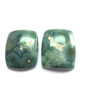 Agate cabochons rectangle gemstone 31x38mm
