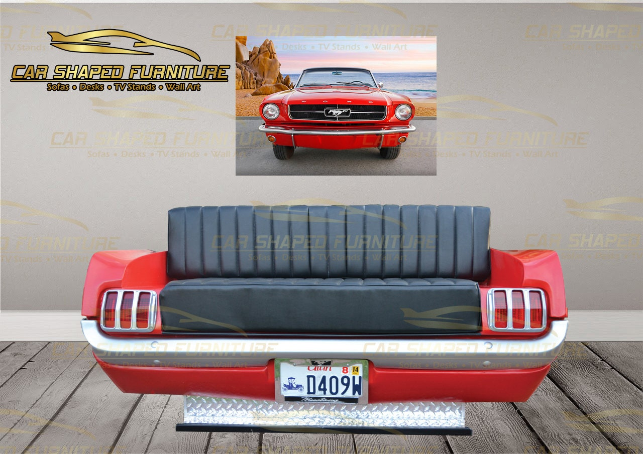 Car Themed Man Cave Furniture : Classic mustang rear end sofa car shaped furniture