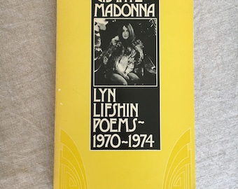 Vintage Poetry Book Lyn Lifshin Upstate Madonna Poems 1970's